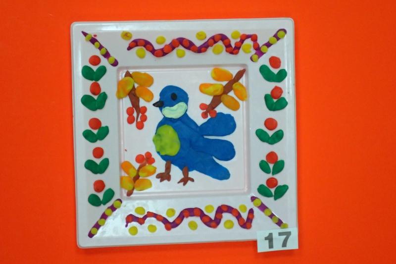 пластилин декор тарелки, Чернышева Маша, 5 лет.