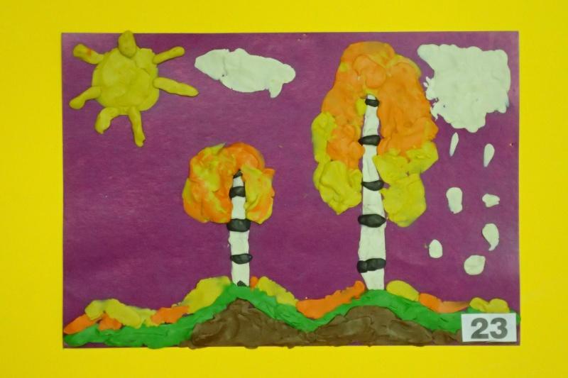 Пластилиновая картина, Садеева Алина, 5 лет.